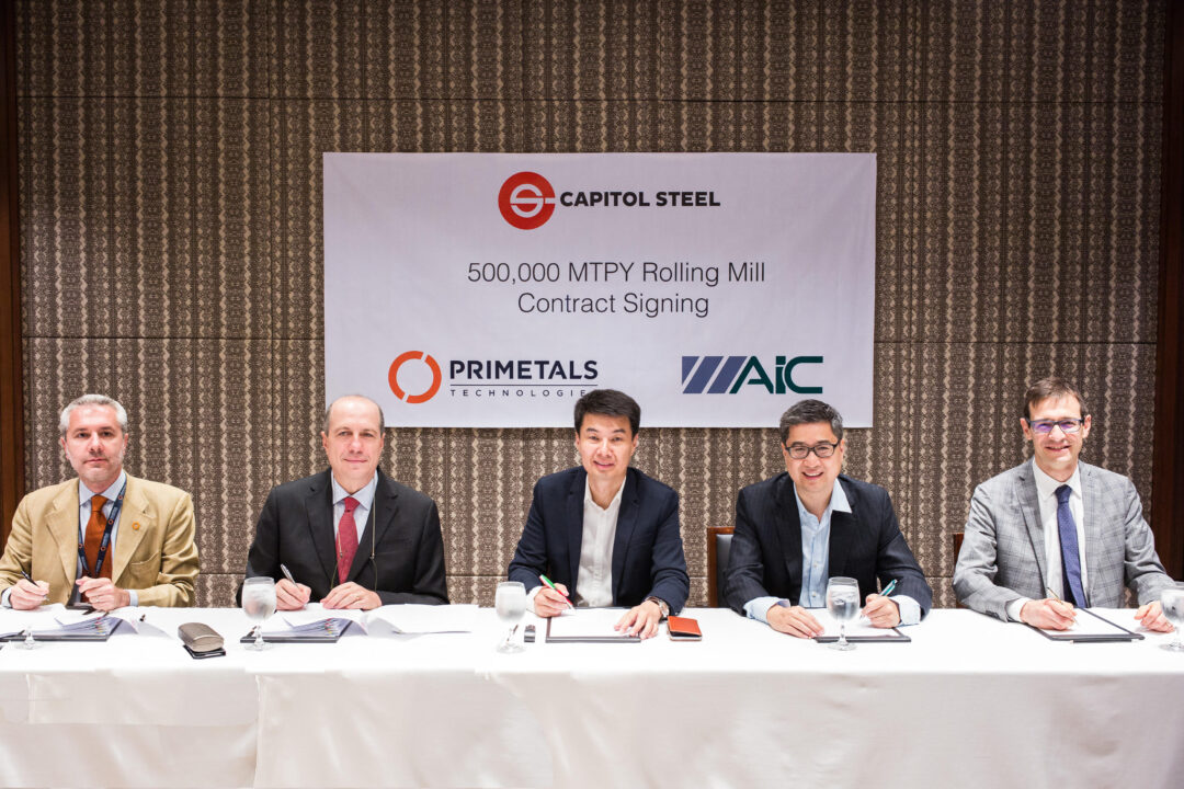 Contract signing for 500,000 mt rolling mill. ​